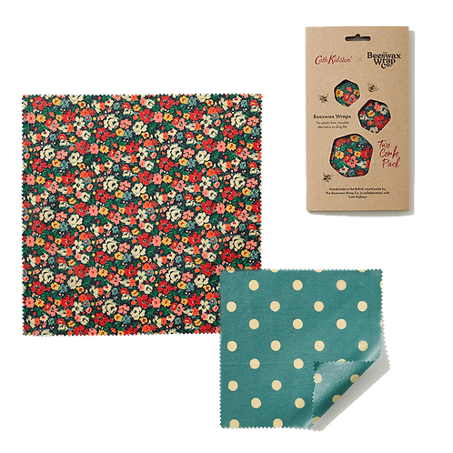 the beeswax wrap co reusable food wraps - cath kidston collection