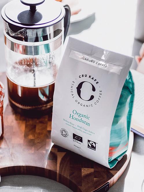 cru kafe single origin organic honduran ground coffee 250g