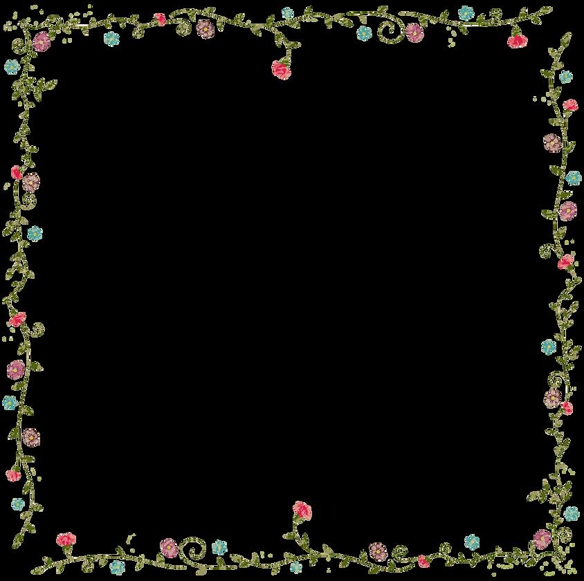 Flowers, pretty border, floral decoration, menu