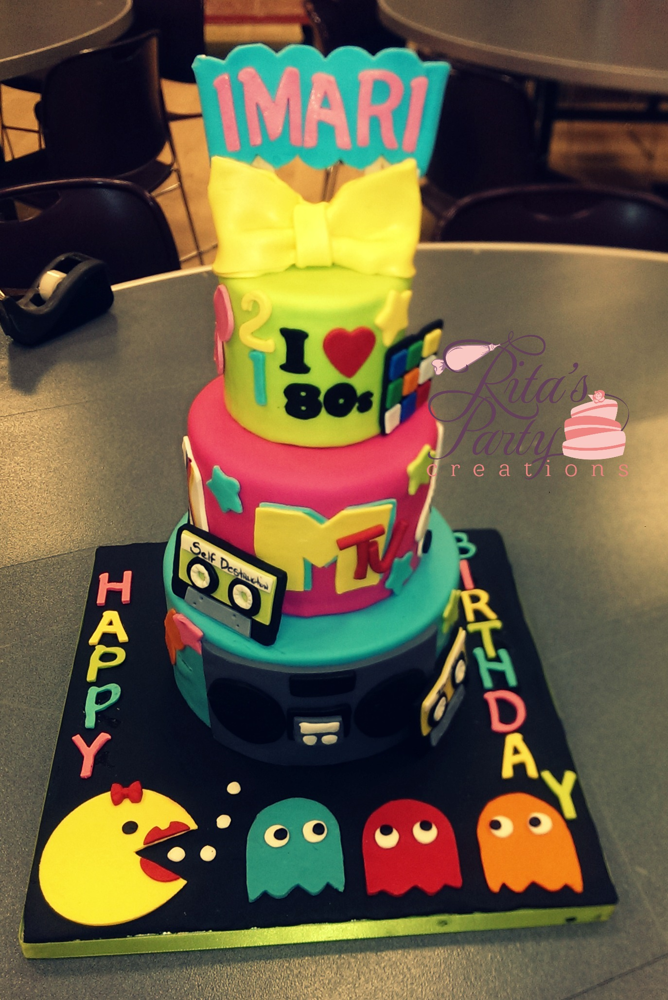 I Love The 80s 21st Birthday Cake
