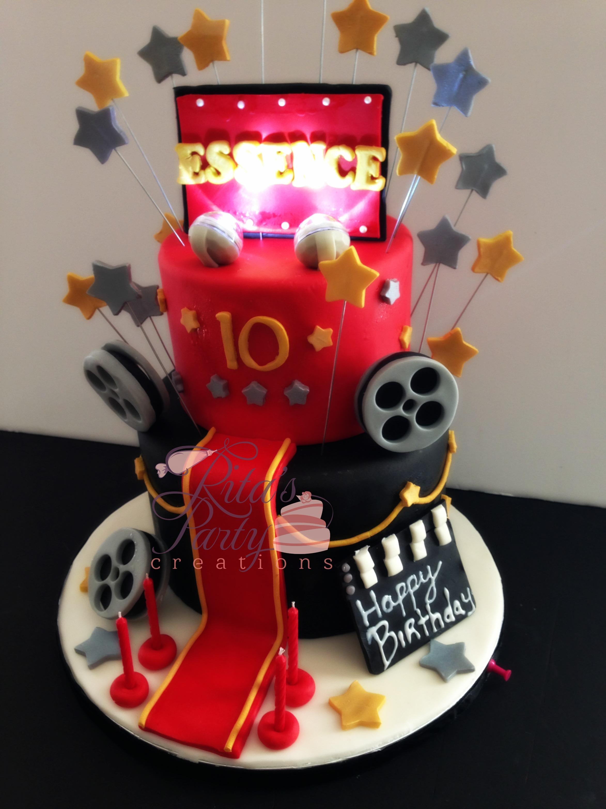 Astonishing Hollywood Theme Cakes Wedding Ideas Funny Birthday Cards Online Alyptdamsfinfo