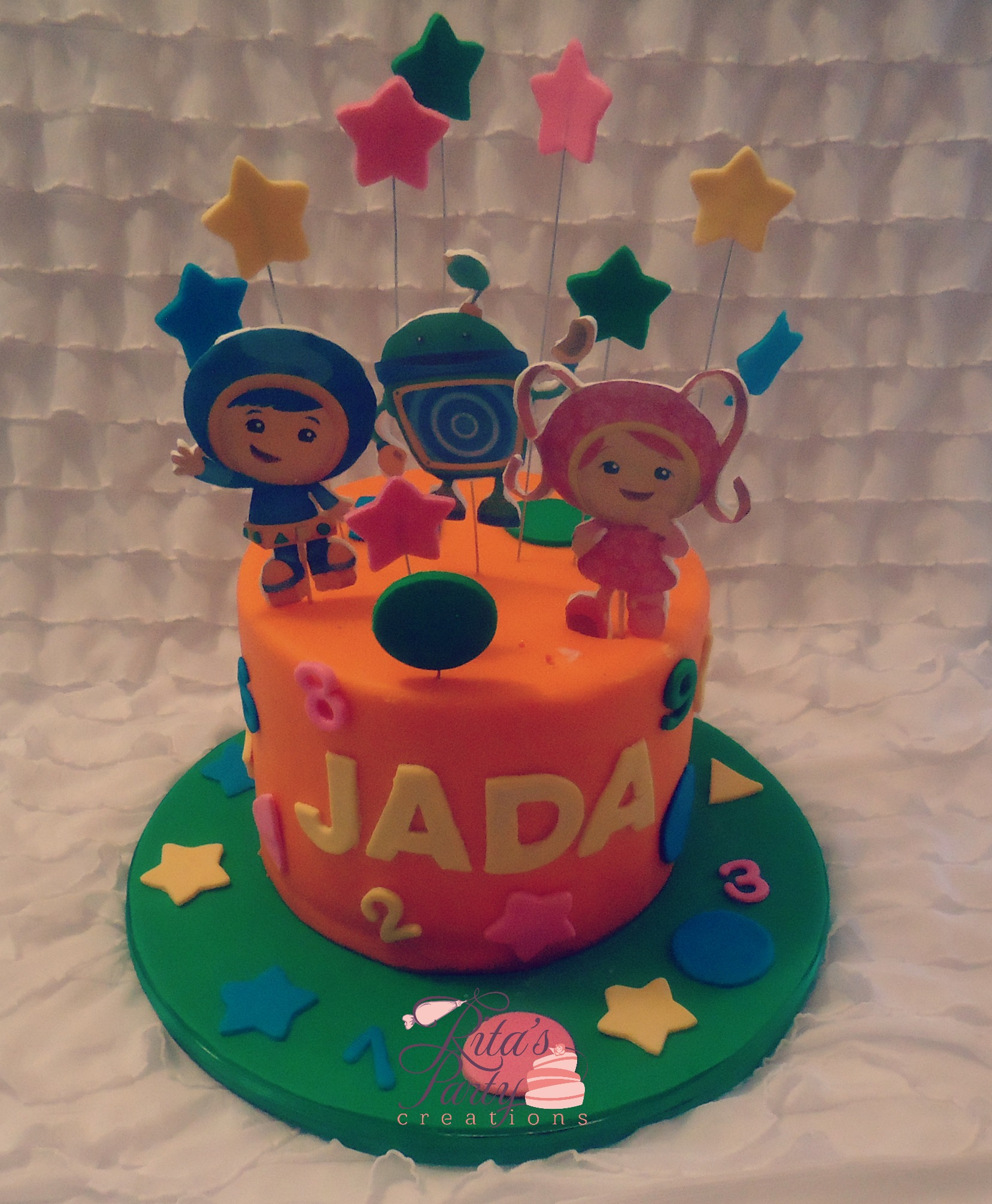 Team Umizoomi 2nd Birthday Cake