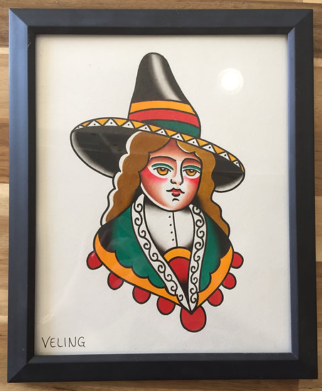 South American Gal Original Painting