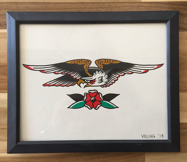 Eagle original painting by Tom Veling