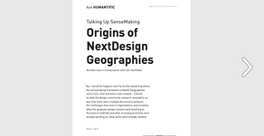 Origins of NextDesign Geographies