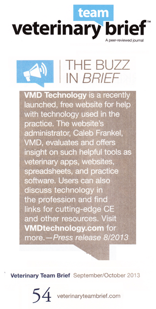 Veterinary Team Brief Introduces VMD Technology