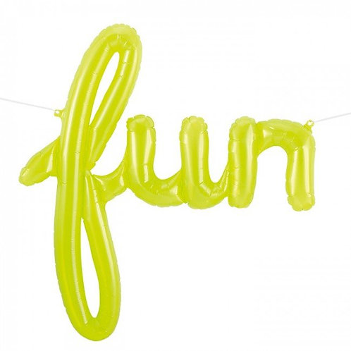 """Fun"" Lime Script Balloon"