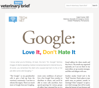 Tech Vet | Google: Love it, Don't Hate It.
