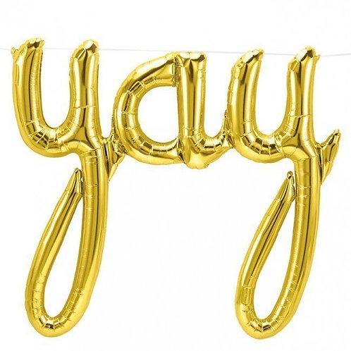 """YAY"" Script Balloon"