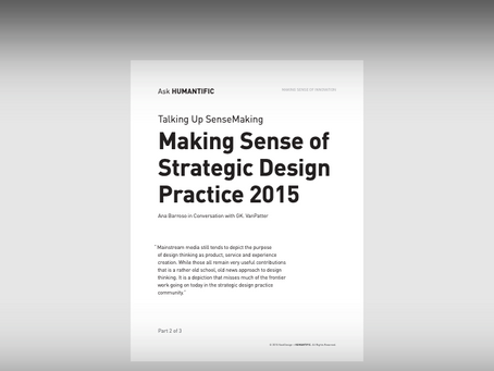 Making Sense of Strategic Design 2015