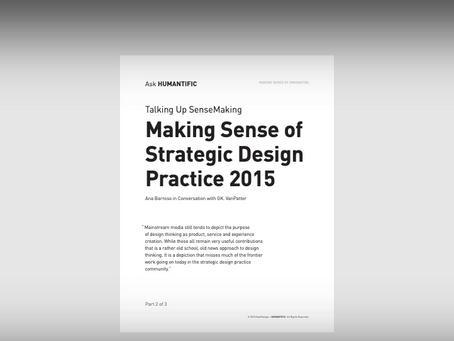 Making Sense of Strategic Design 2015