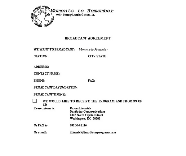 Broadcast Agreement