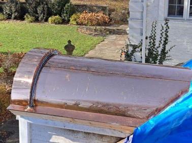 Copper seam roof