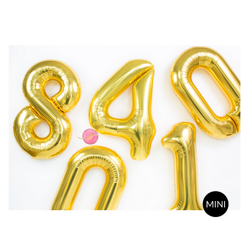 Mini Number Balloons