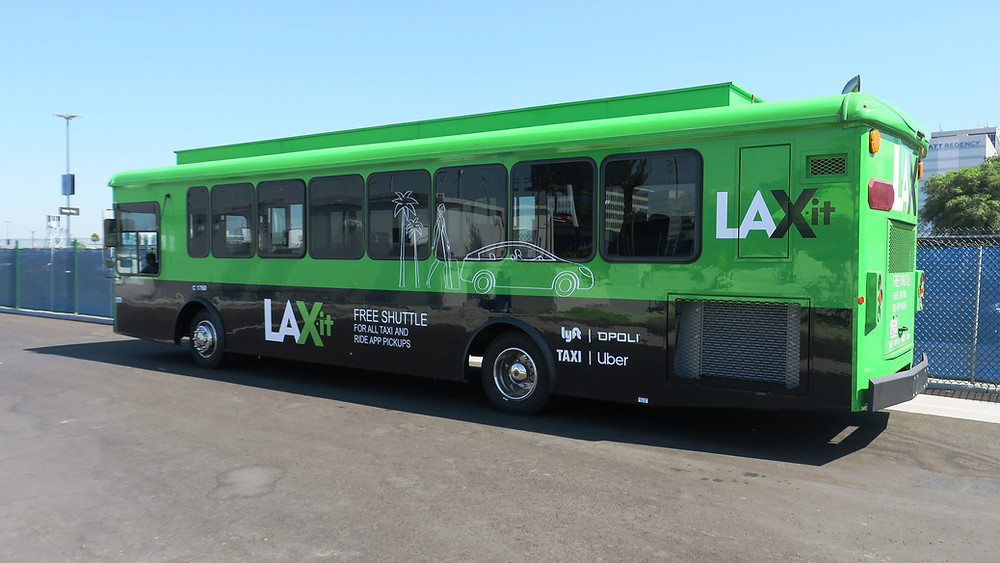 LAX-It Shuttle Bus at the LAX Airport