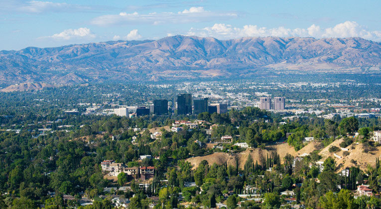 Woodland Hills & San Fernando Valley view