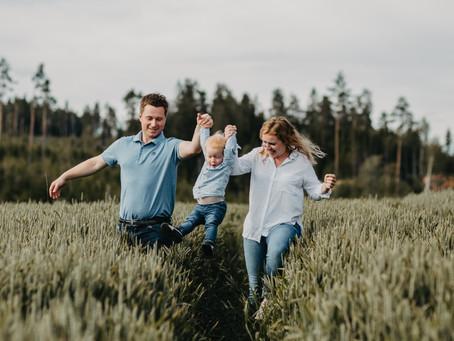 Landlig idyll // Familiefoto