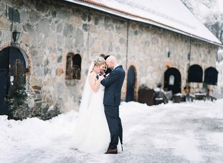 Årets første vinterbryllup // Maria og Jan Inge