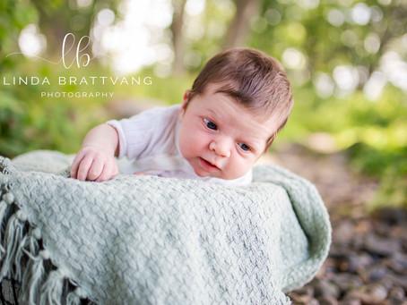 Nyfødtfoto utendørs