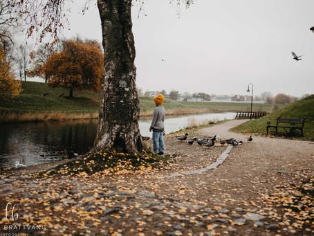 Høststemning i gamlebyen // familiefoto