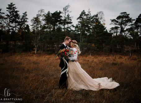 Bryllupsfoto ved Elgåfossen