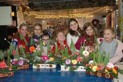 Cours d'art floral, enfant