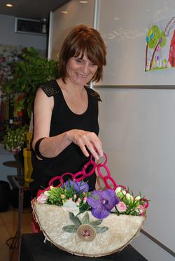Cours d'art floral, sac bijoux