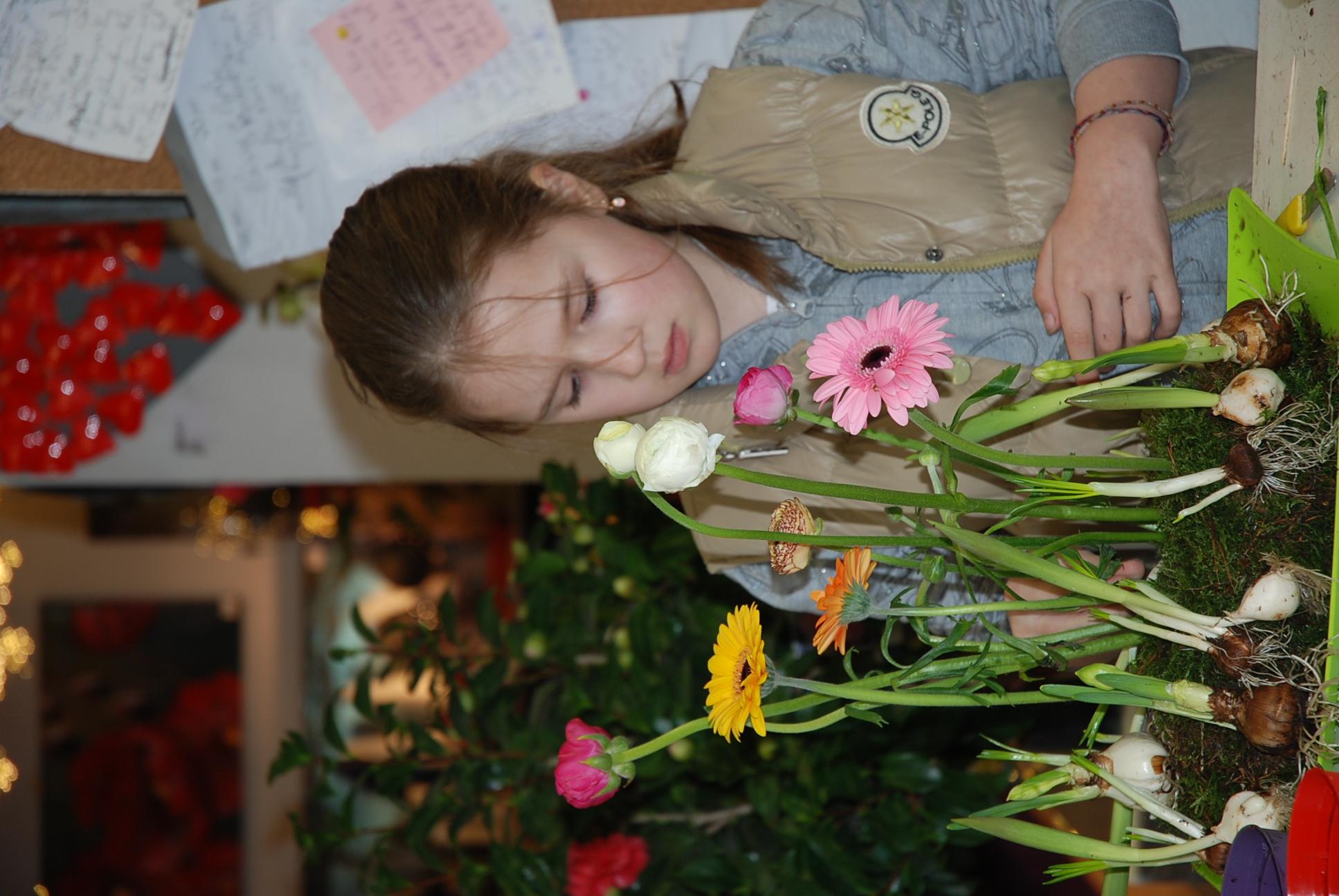 Cours d'art floral enfant,