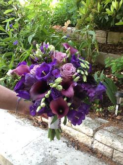 bouquet de mariée, lisianthus, calla