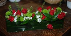 Une  barette de fleurs pour une photo