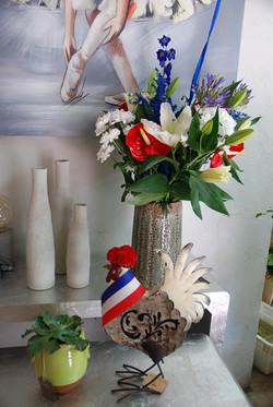 Kara fleurs derrière les bleus !