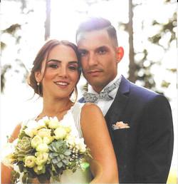 Bouquet de mariée rond, echeveria