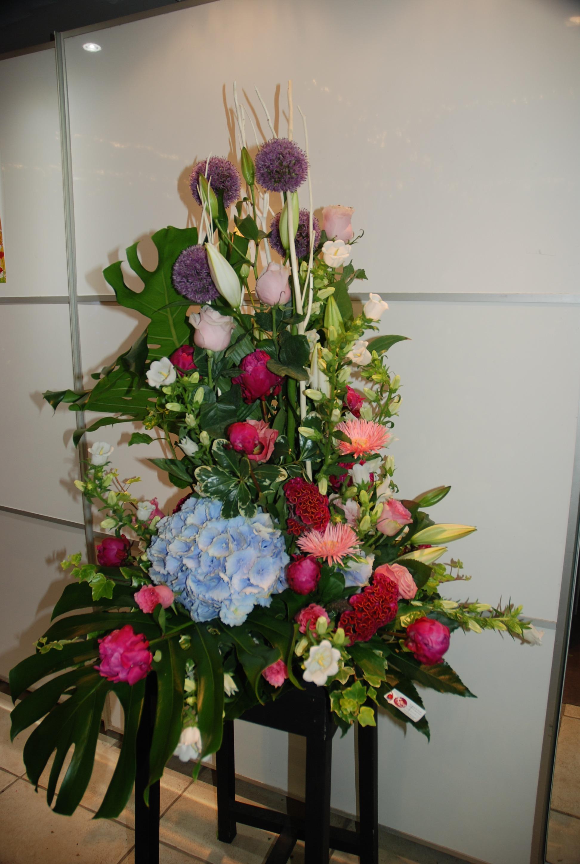 Composition floral hauteur