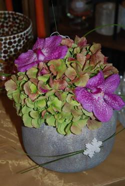 composition florale avec orchidées