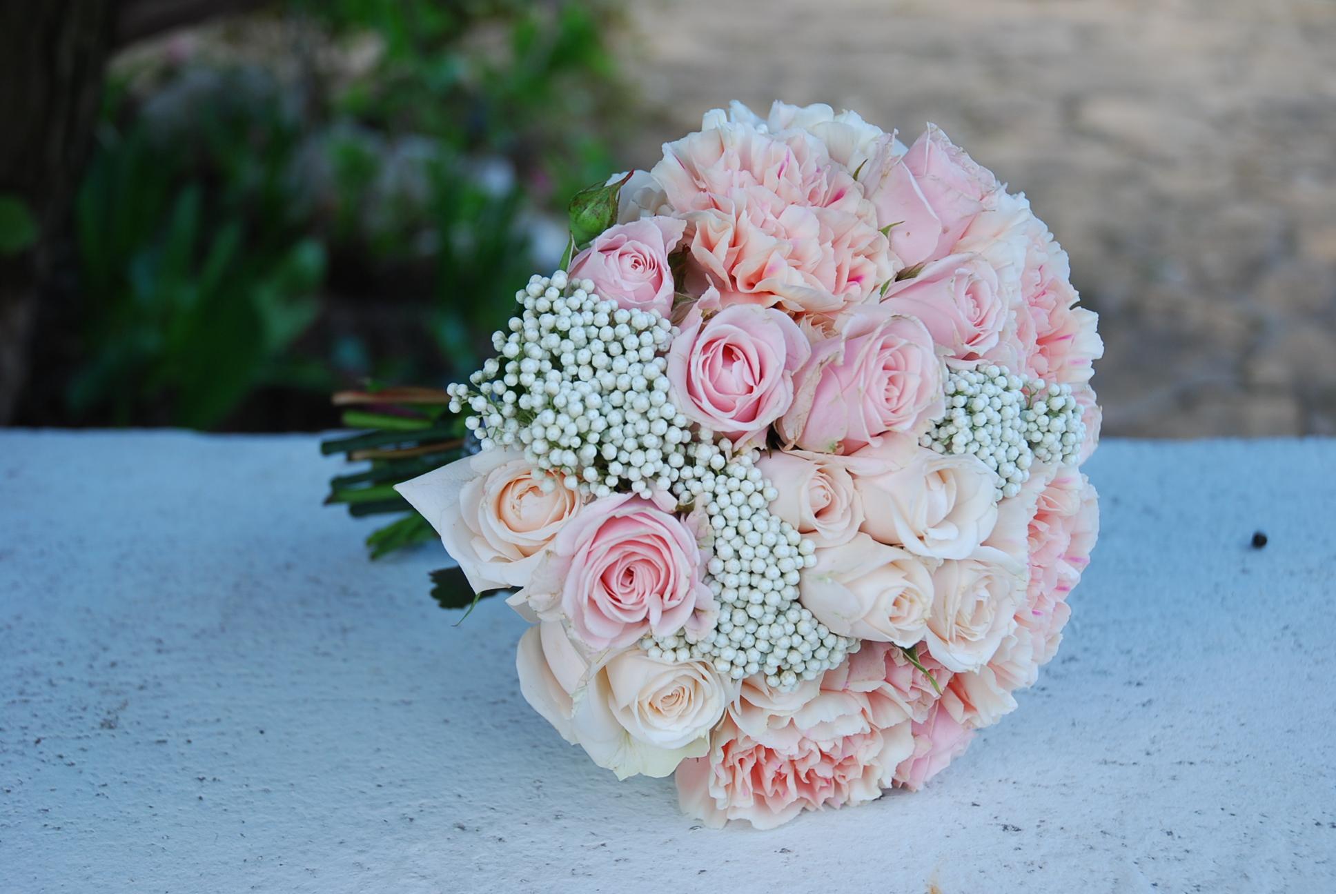 Bouquet de mariée, rond, romantique