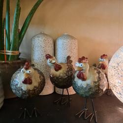 Les poules dans la basse cour !!