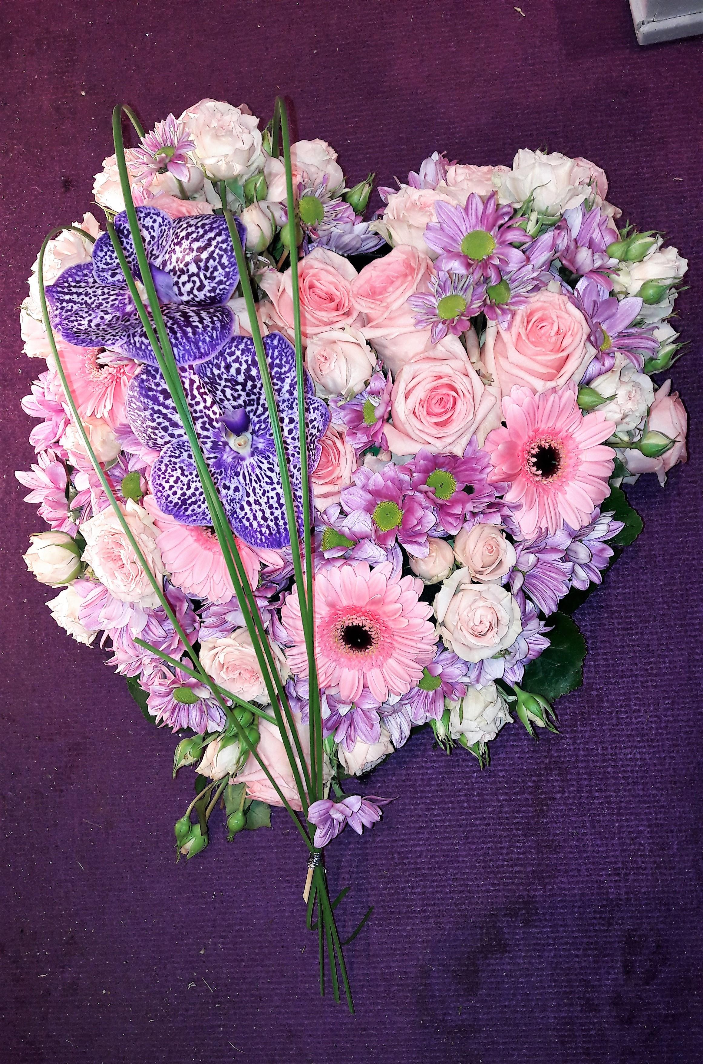 kara fleurs, composition déces