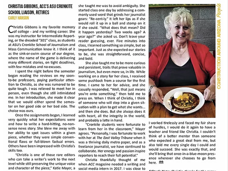 Magazine Article | An Ode to My Professor & Friend