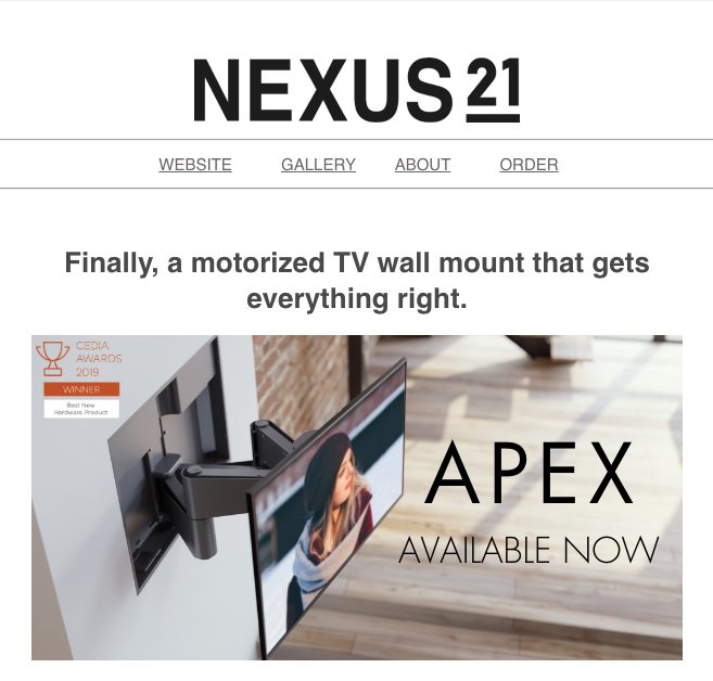 Marketing Email | Product Launch for Nexus 21