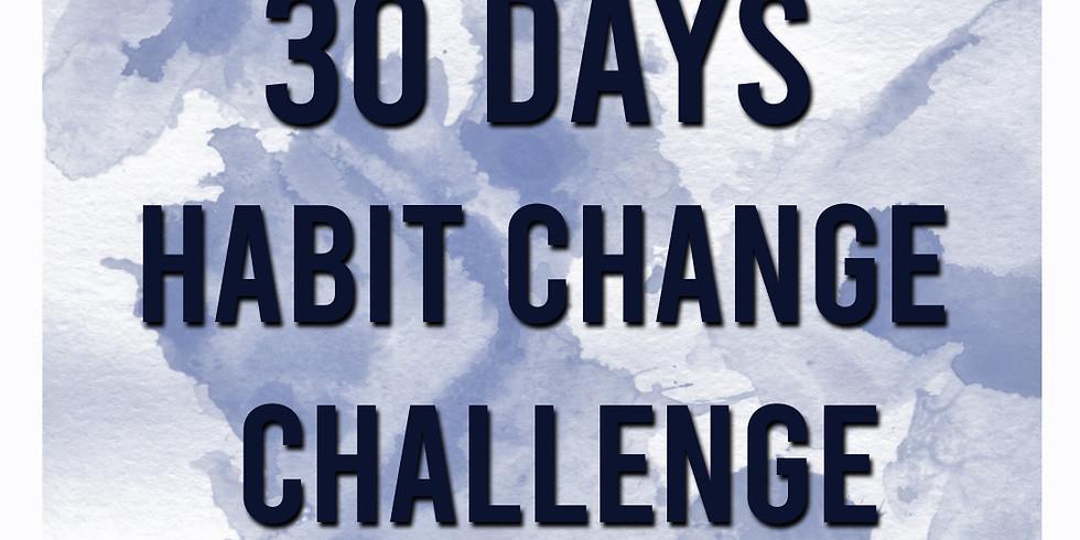 30 day Habit change challenge