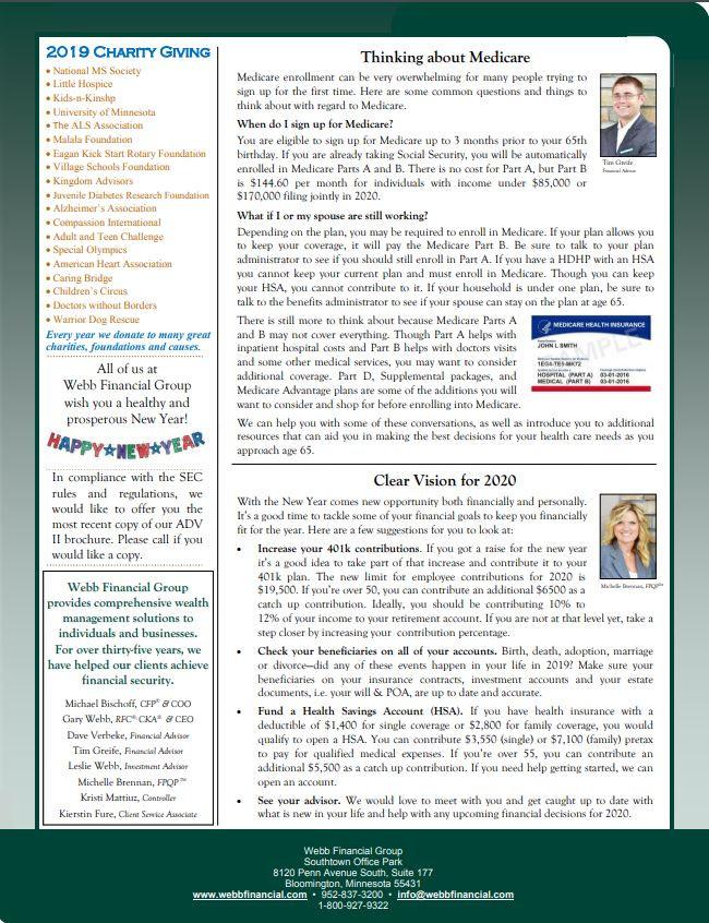 January 2020 WFG Newsletter