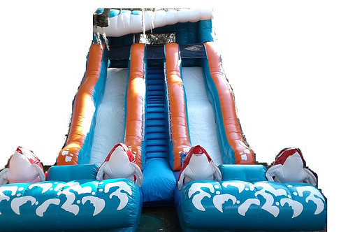 "20ft ""OCEAN"" DUAL WATER SLIDE (Great for Big Events)"