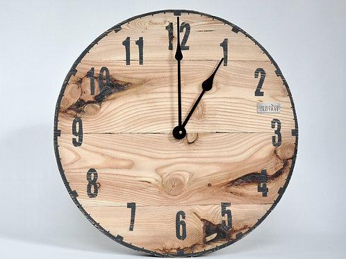 Zegar ścienny LOFT - modrzew
