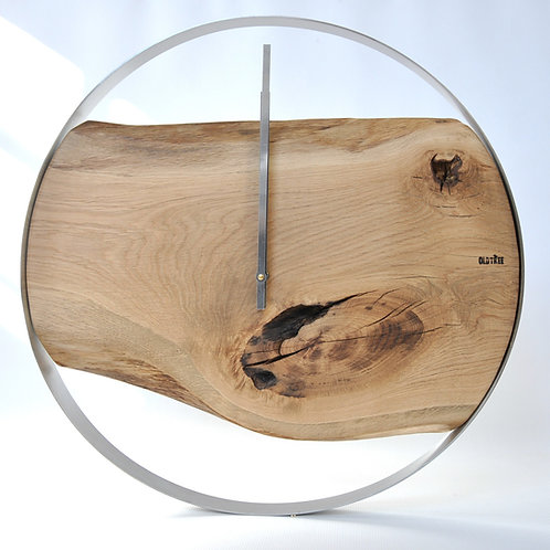 Zegar LOFT - dębowy - 55 cm