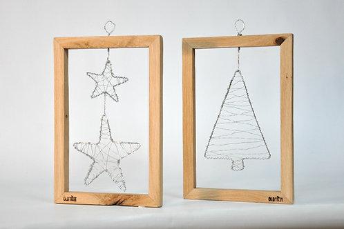Ramki dębowe, świąteczna dekoracja