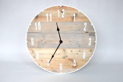 Zegar duży ze starych desek