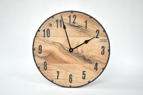 Zegar LOFT - dębowy
