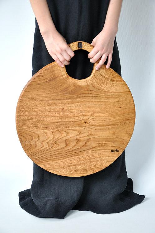 Decha do serwowania - dębowe koło