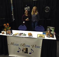 Music Row Voice booth at Belmont University Internship Fair