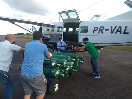O Instituto Bempescado entrega cilindros de oxigênio pra Manaus com parcerias